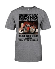 motorcycle drag racing riding Classic T-Shirt front