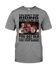 motorcycle drag racing riding Premium Fit Mens Tee tile
