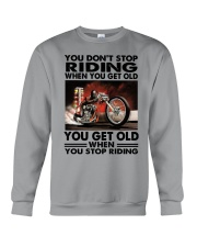 motorcycle drag racing riding Crewneck Sweatshirt tile