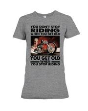 motorcycle drag racing riding Premium Fit Ladies Tee tile