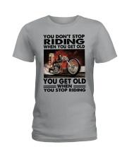 motorcycle drag racing riding Ladies T-Shirt tile