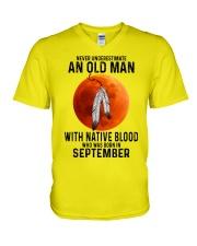 09 native olmm V-Neck T-Shirt tile