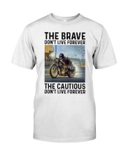 motorcycle dc The Brave Premium Fit Mens Tee tile