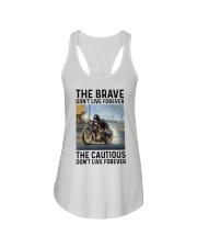 motorcycle dc The Brave Ladies Flowy Tank tile