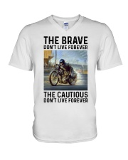 motorcycle dc The Brave V-Neck T-Shirt tile