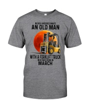 03 forklift truck old man color Classic T-Shirt front