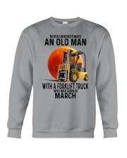 03 forklift truck old man color Crewneck Sweatshirt tile