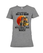 03 forklift truck old man color Premium Fit Ladies Tee tile