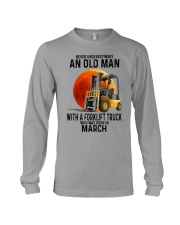 03 forklift truck old man color Long Sleeve Tee tile
