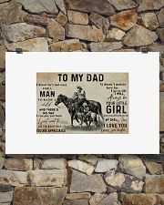 Horse to my dad poster 36x24 Poster poster-landscape-36x24-lifestyle-15