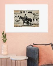 Horse to my dad poster 36x24 Poster poster-landscape-36x24-lifestyle-18