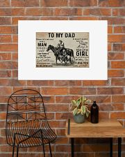 Horse to my dad poster 36x24 Poster poster-landscape-36x24-lifestyle-20