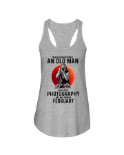 2 photography old man Ladies Flowy Tank tile
