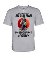 2 photography old man V-Neck T-Shirt tile