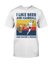 Handball I Like Beer Classic T-Shirt front