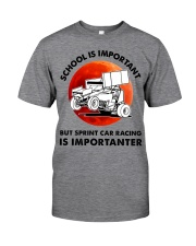 red school-sprint car racing Classic T-Shirt front