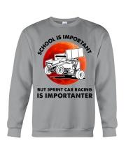 red school-sprint car racing Crewneck Sweatshirt tile