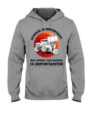 red school-sprint car racing Hooded Sweatshirt tile