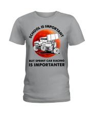 red school-sprint car racing Ladies T-Shirt tile
