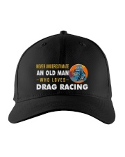 hat drag racing old man Embroidered Hat front