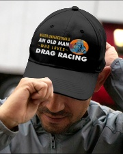 hat drag racing old man Embroidered Hat garment-embroidery-hat-lifestyle-01