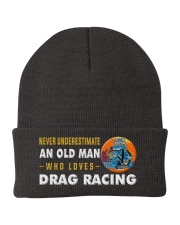 hat drag racing old man Knit Beanie thumbnail