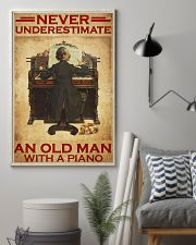 Piano never old man poster 24x36 Poster lifestyle-poster-1