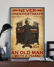 Piano never old man poster 24x36 Poster lifestyle-poster-2