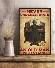 Piano never old man poster 24x36 Poster lifestyle-poster-3