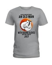 07 boxing old man Ladies T-Shirt tile