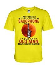 perfect saxophone olm V-Neck T-Shirt tile