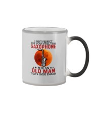 perfect saxophone olm Color Changing Mug tile
