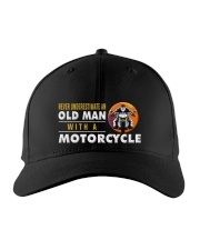 hat motorcycle old man Embroidered Hat front