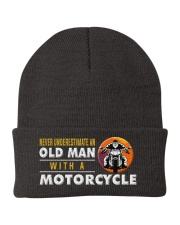 hat motorcycle old man Knit Beanie thumbnail