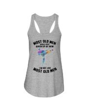 most old men karate Ladies Flowy Tank tile
