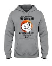 05 boxing old man Hooded Sweatshirt tile