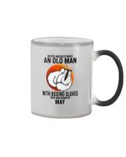 05 boxing old man Color Changing Mug tile