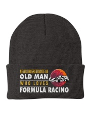 hat formula racing old man Knit Beanie tile