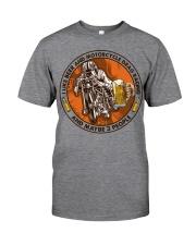 i like beer motorcycle drag racing Classic T-Shirt tile