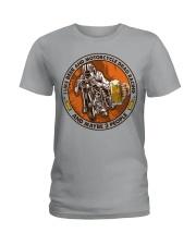 i like beer motorcycle drag racing Ladies T-Shirt tile