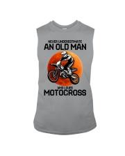 08 hat motocross old man  Sleeveless Tee tile