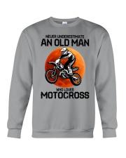 08 hat motocross old man  Crewneck Sweatshirt tile