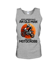 08 hat motocross old man  Unisex Tank tile