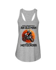 08 hat motocross old man  Ladies Flowy Tank tile