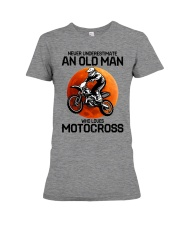 08 hat motocross old man  Premium Fit Ladies Tee tile
