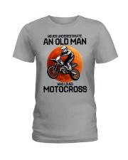 08 hat motocross old man  Ladies T-Shirt tile