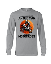 08 hat motocross old man  Long Sleeve Tee tile