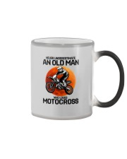 08 hat motocross old man  Color Changing Mug tile