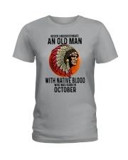 10 native blood old man Ladies T-Shirt tile