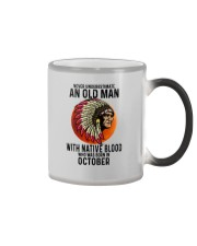 10 native blood old man Color Changing Mug tile